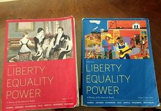Lone Star History 1301 and 1302 Books - Liberty Equality Power Vol 1 and 2 - 6th Ed. in Conroe, Texas