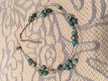 Turquoise Silver Choker on Wires Triple Strand Vintage Extension in Houston, Texas