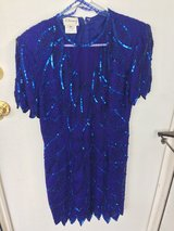 Dress blue with sequins size 10 in Orland Park, Illinois