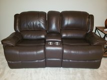 Leather loveseat and couch  recliners in Naperville, Illinois