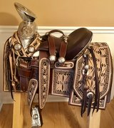 """""SOLD""""NEW Horse Saddle.**Montura Charra**for Sale in Yorkville, Illinois"