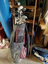 Complete set of golf clubs,bag,roughly 1000 used golf balls in Bolingbrook, Illinois