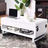 www.theit.shop - White - Modern Coffee Table w/ Bluetooth Speakers in Fort Polk, Louisiana