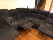 Sectional Couch/Sofa (3 Recliners/USB) in Naperville, Illinois