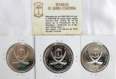 ECUATORIAL 100 PESETAS ,999F SILVER PROOF COIN in Okinawa, Japan