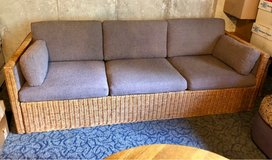 Wicker Sided & front Couch in Bolingbrook, Illinois