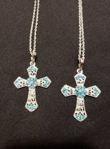 FASHION CROSS NECKLACES (LIGHT BLUE) in Fort Campbell, Kentucky