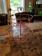 2-Tiered Rose Gold Metal Fruit Basket in Fort Campbell, Kentucky