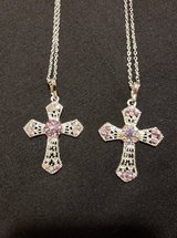 FASHION CROSS NECKLACES (PINK) in Fort Campbell, Kentucky