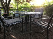 Patio Furniture Set.  Table and 4 Chairs in Aurora, Illinois