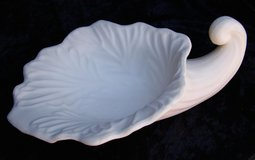 LARGE Unpainted BISQUE Pottery Calla Lily BOWL ~ Vintage in Alamogordo, New Mexico