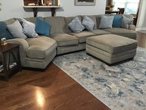 Livingroom couches (3 pieces) with matching ottoman(w/storage) in Fort Campbell, Kentucky