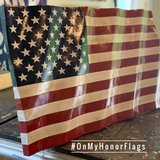 Waving American Wood Flag in Clarksville, Tennessee