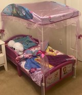 Frozen Toddler bed with Canopy and mattress in El Paso, Texas