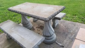 concrete Table and Bench set in Fort Leonard Wood, Missouri