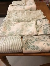 Six piece quilt set with matching curtains reversible full queen in Baytown, Texas