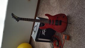 Kramer Guitar with footpeddle and amp/cords in Fort Leonard Wood, Missouri