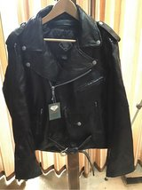 Men's Leather Motorcycle Jacket NEW in Bolingbrook, Illinois