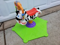 Fisher Price Bounce And Spin Zebra in Oswego, Illinois