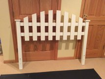 Headboard white picket fence in Chicago, Illinois
