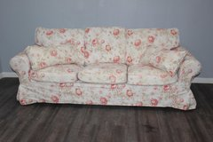 Flower Pattern Sofa with accent Pillows in Spring, Texas