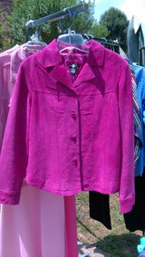 Pink leather suede ladies jacket in Warner Robins, Georgia