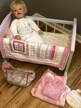 Lee Middleton Doll and cradle pottery barn accessories in Bolingbrook, Illinois