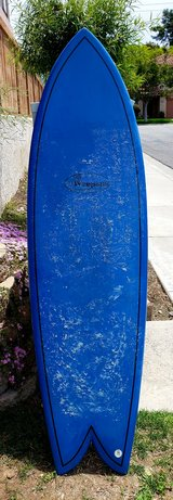"6'4"" epoxy quad fin in great condition with padded bag in Camp Pendleton, California"