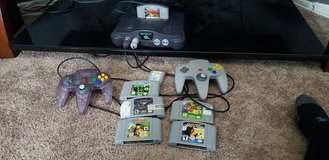 N64 with 2 controls and 6 games in Camp Pendleton, California