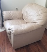 Authentic Leather wing chair in Yucca Valley, California