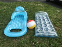 Pool loungers & Ball reduced in Fort Leonard Wood, Missouri