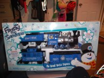 Frosty the snowman train set in Fort Campbell, Kentucky