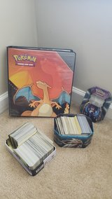 pokemon card collection and binder in Byron, Georgia