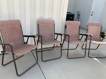Set of 4 folding chairs in Yucca Valley, California