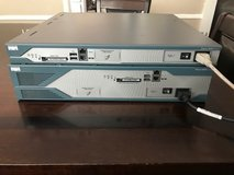 Cisco routers 2811 And 2821 - with 64 mb cards in each router. Great for training/home lab. in Conroe, Texas