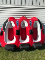 Used Airhead Viper 3 Person Tow Behind Tube Good Condition in Joliet, Illinois