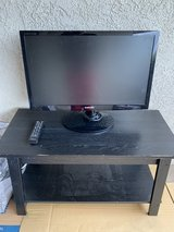 "Samsung TV Model # SyncMaster T27A300 26"" x 16"", TV Remote Control, TV Stand in Camp Pendleton, California"