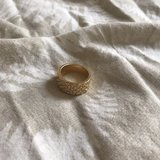 Gold colored ring in Okinawa, Japan