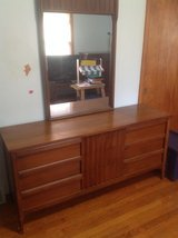 Mid century modern double dresser with mirror in Bolingbrook, Illinois