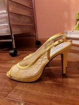 Brand NEW Yellow Lace Bridal shoes! in Aurora, Illinois