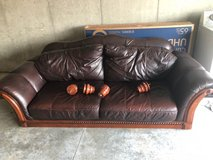 ASHLEY GENUINE LEATHER COUCH AND LOVE SEAT in Fort Riley, Kansas