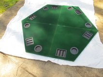 "48"" Folding Poker Table Top Green Octagon 8 Player Four Fold Folding Poker Table Top & Carrying Cas in Cherry Point, North Carolina"