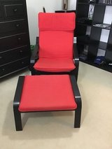 IKEA Chair and Ottoman (Red) in Stuttgart, GE