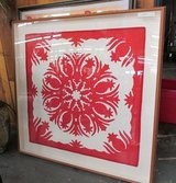 Large, Framed Red & White Quilt in Bolingbrook, Illinois