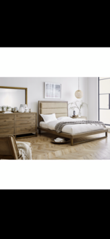 NEW! UPSCALE / LUXURIOUS SOLID QUALITY WOOD PLATFORM BED SET! BY M. INTERNATIONAL in Camp Pendleton, California