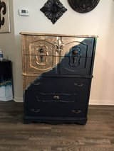 navy , green & Gold leaf dresser in Conroe, Texas