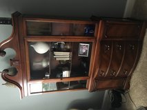 Cherry wood solid hutch in Glendale Heights, Illinois