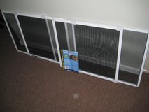 "Window screens adjustable 18"" h X 20"" w & expandable to 37"" w in Aurora, Illinois"
