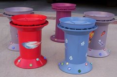 Fancy Hand Painted, Heavy Plastic Plant Stands in El Paso, Texas