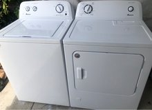 Amana washer and gas dryer in Camp Pendleton, California